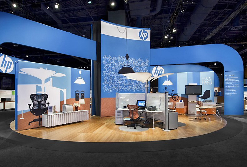 hp trade show booth