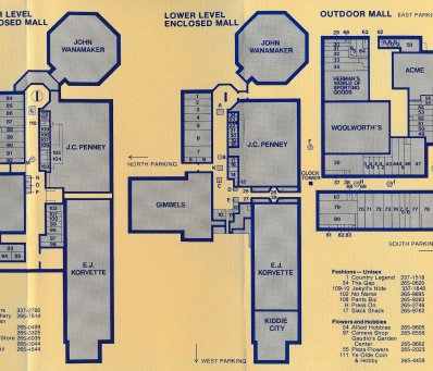 King of Prussia static mall map