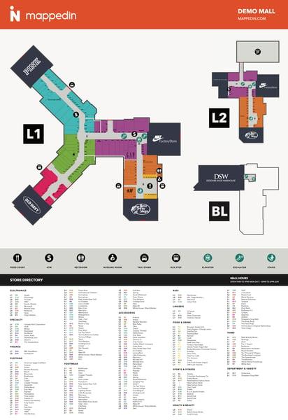 Mappedin Print Demo Mall