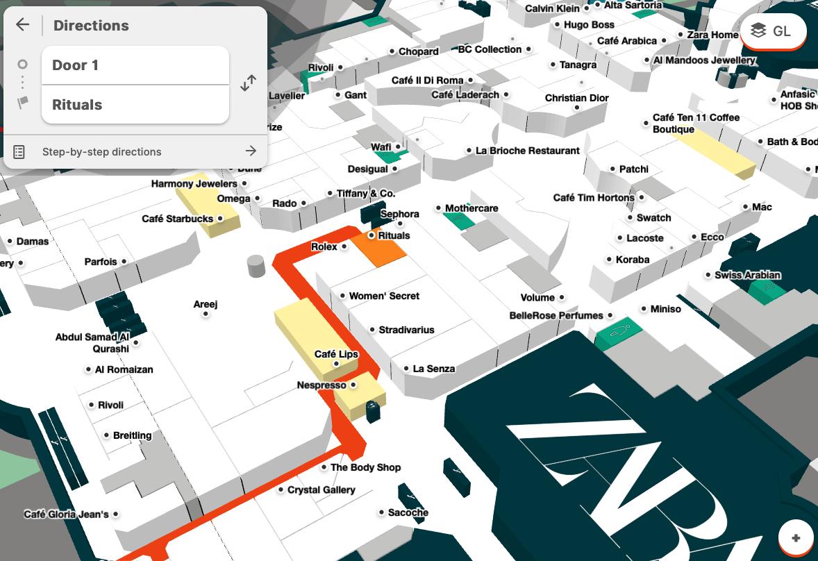 Marina Mall Abu Dhabi Interactive Map Directions