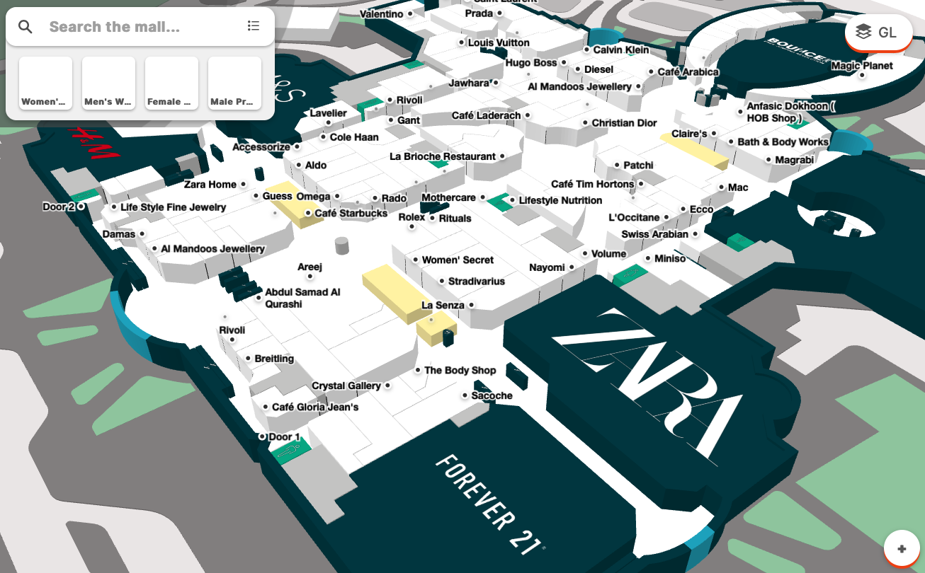 Marina Mall Abu Dhabi Interactive Map