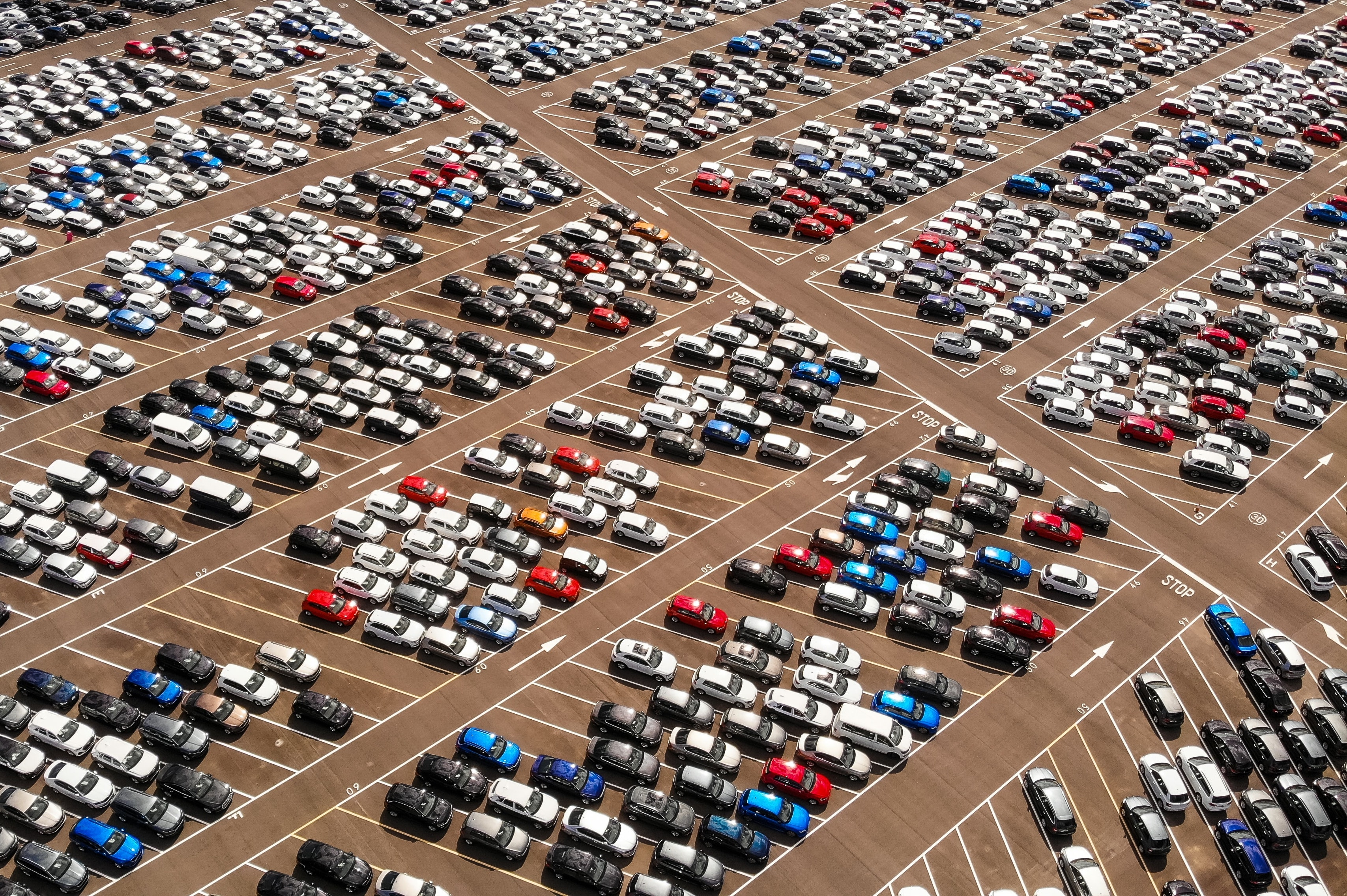 parking lot with cars