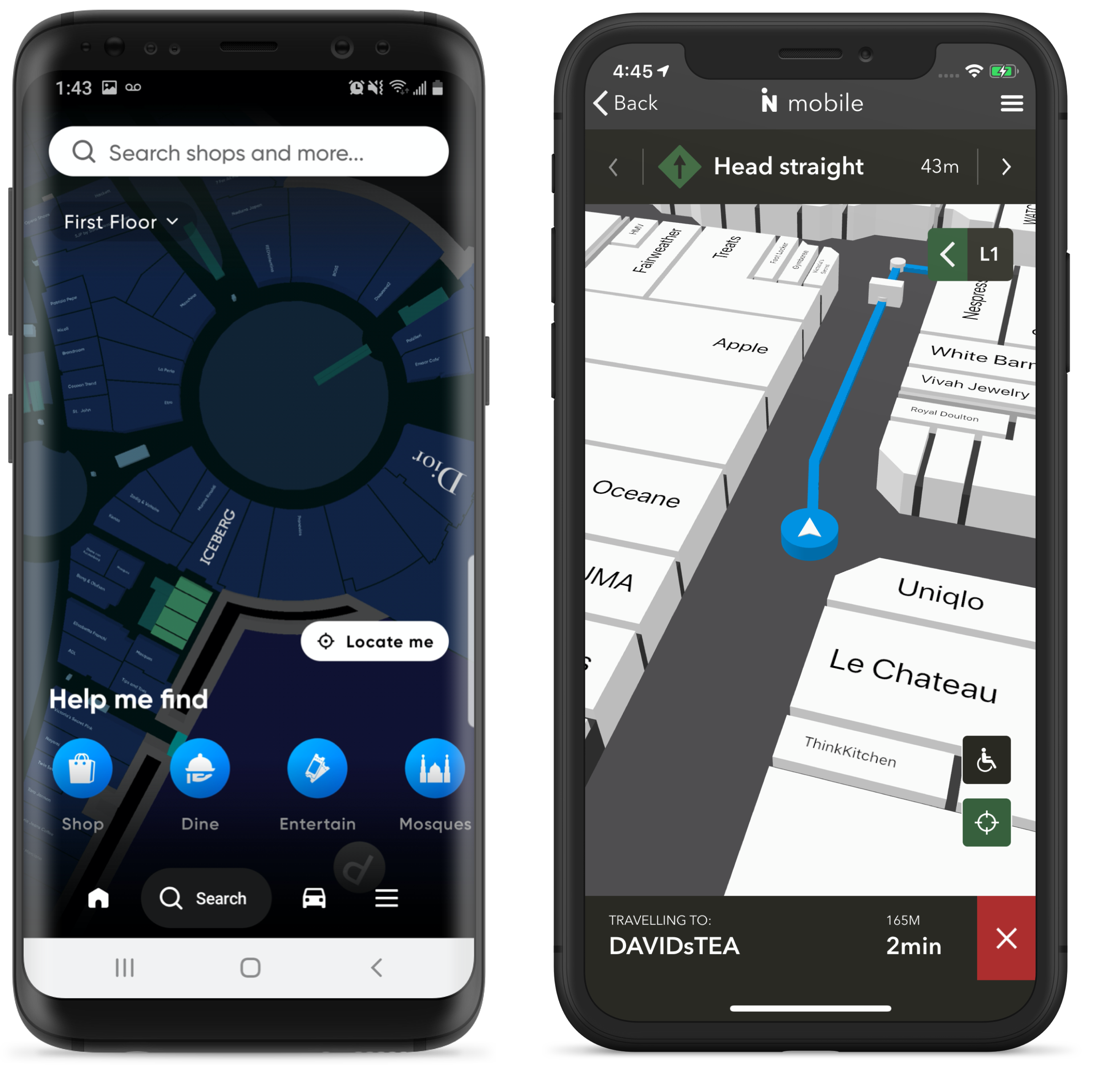 shopping mall maps mobile
