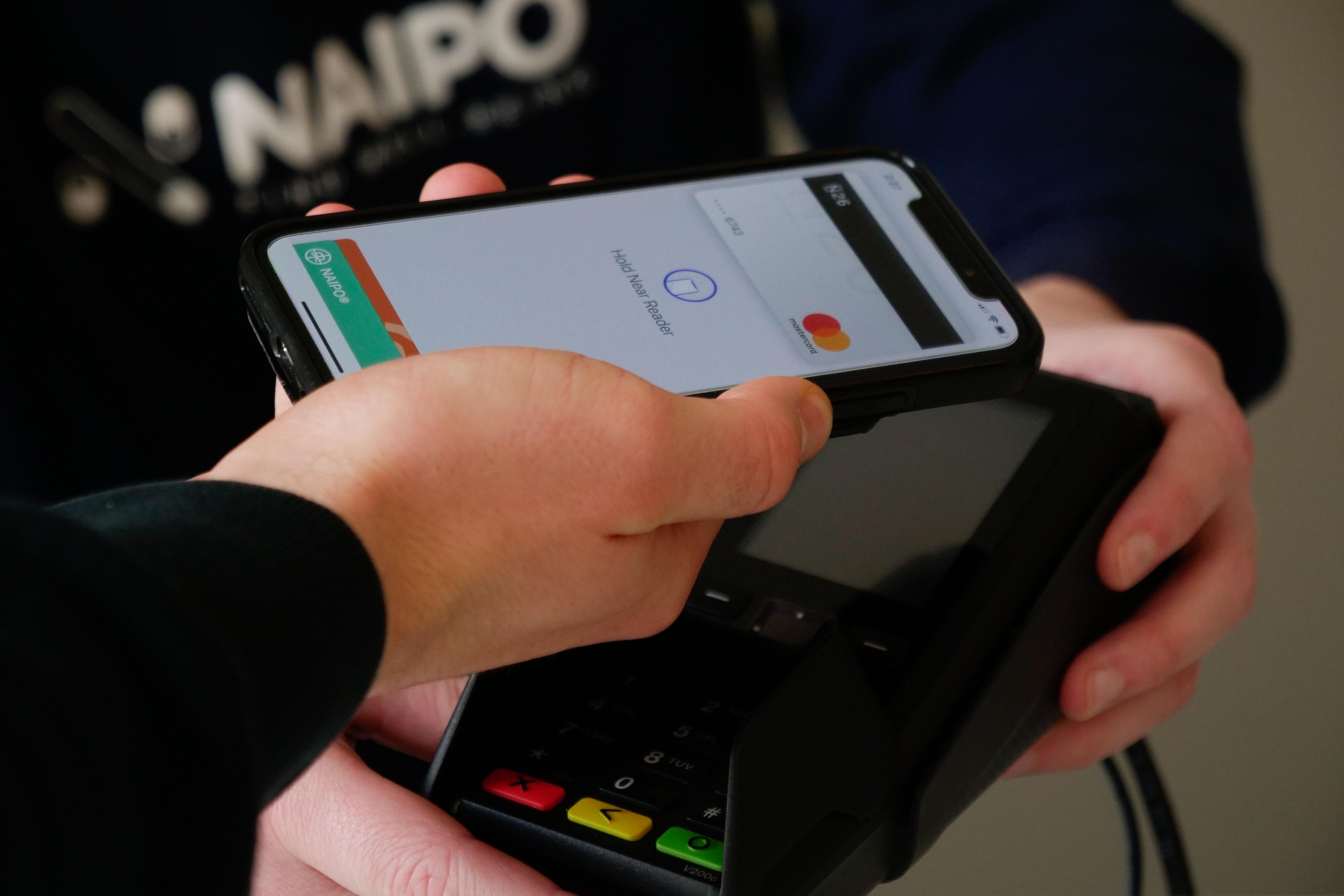 contactless payment via phone