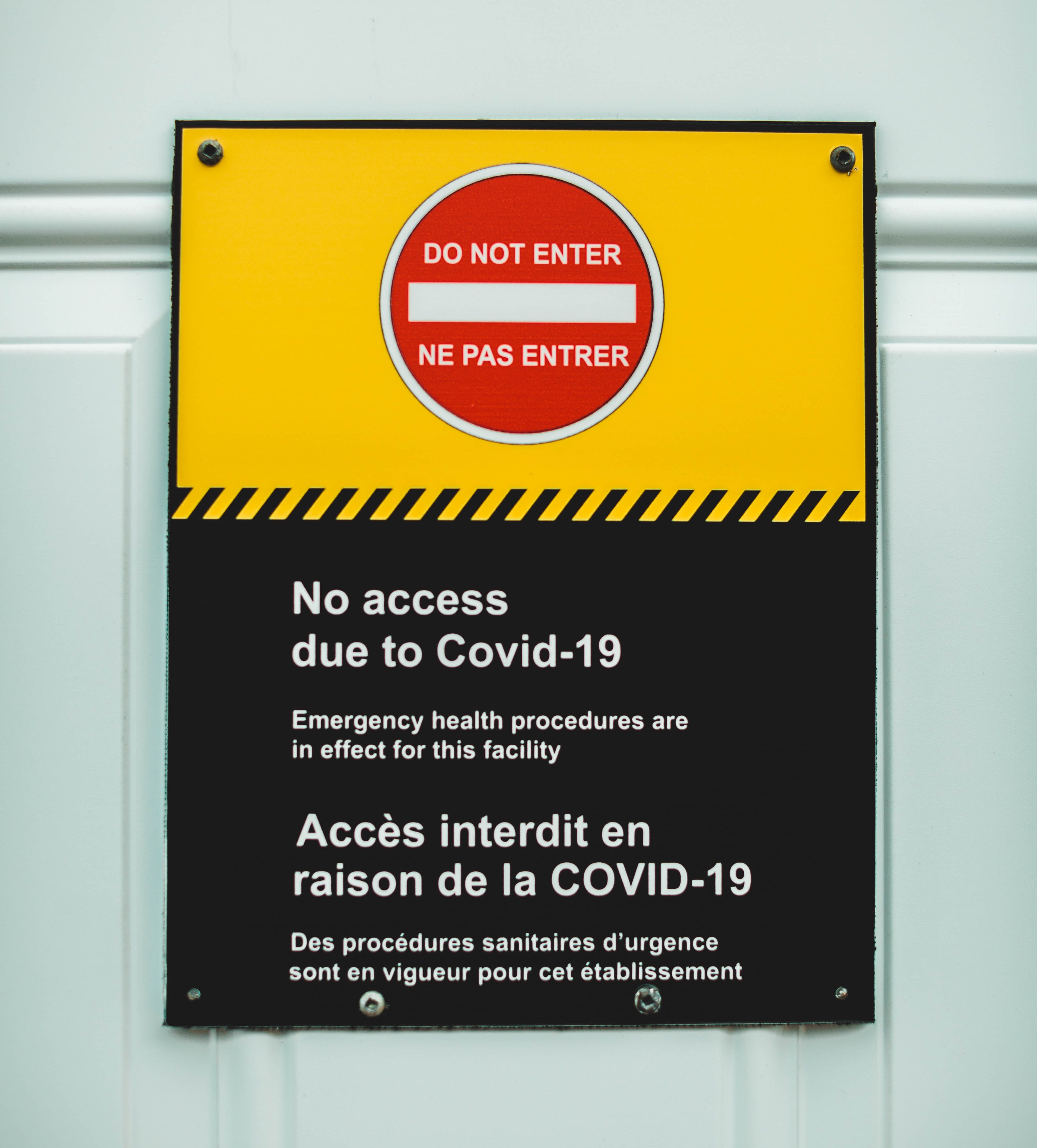 do not enter no access due to COVID-19 poster cropped