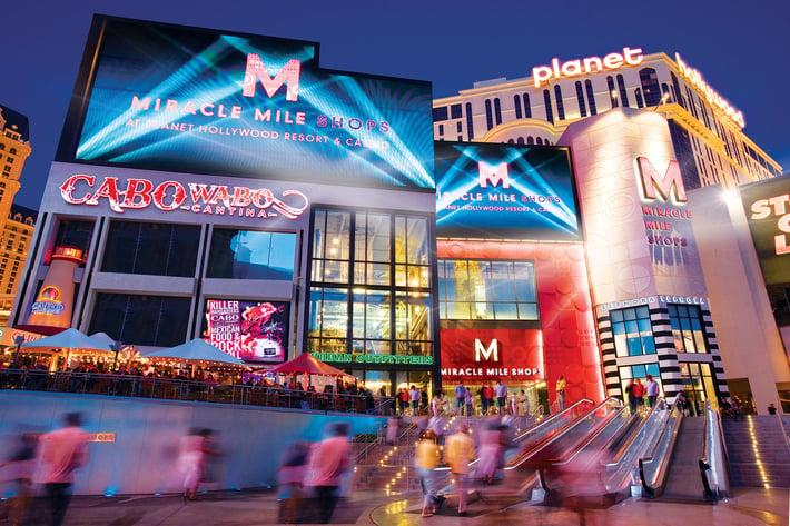 miracle mile shops north entrance planet Hollywood Las Vegas
