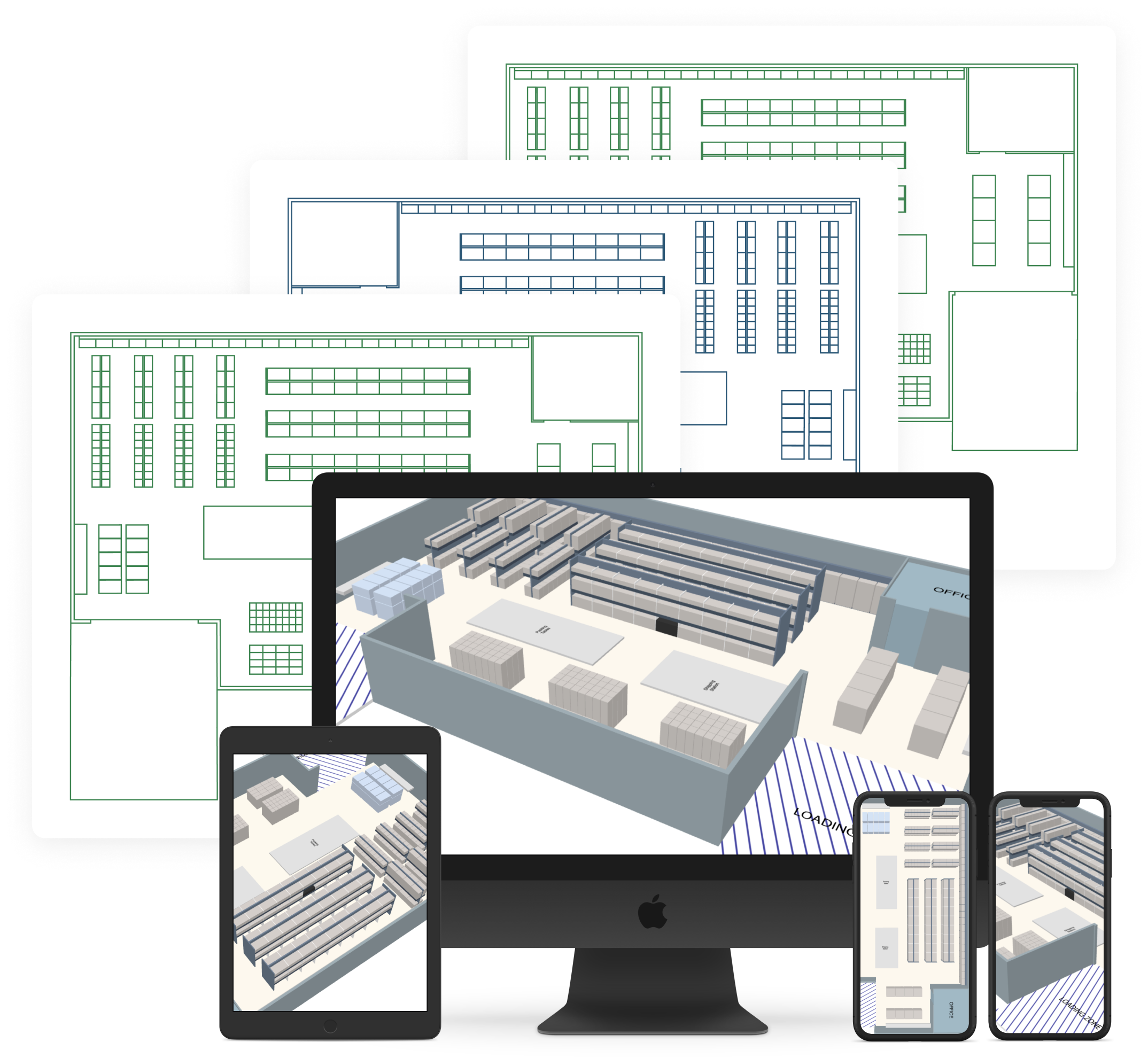 warehouse floor plan to assets