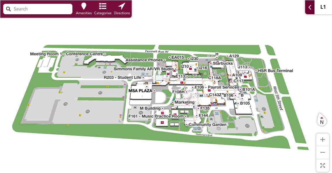 Mohawk College Interactive Campus Map- Responsive Web App
